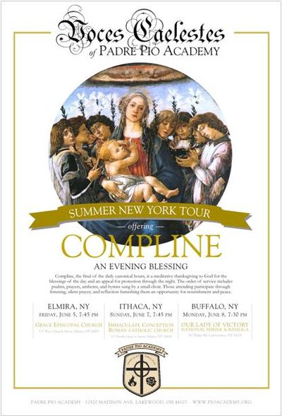 Compline NY poster outline